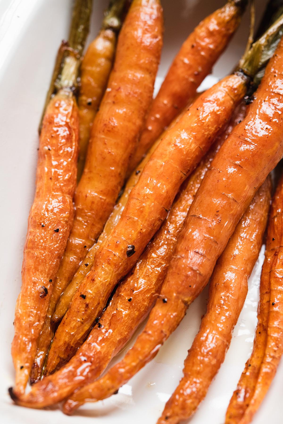Cenouras assadas com azeite
